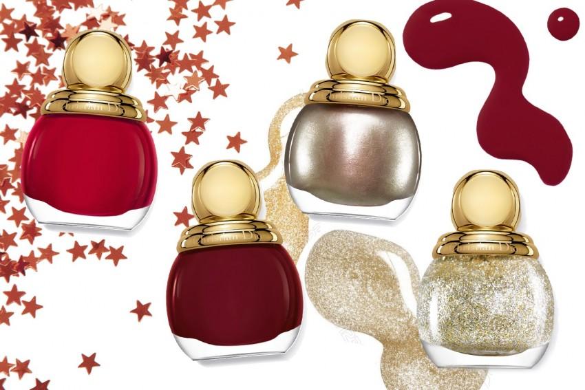 O quarteto da coleção State of Gold, da Dior: Passion, Mystère, Gris-Or e State of Gold (99 dólares)