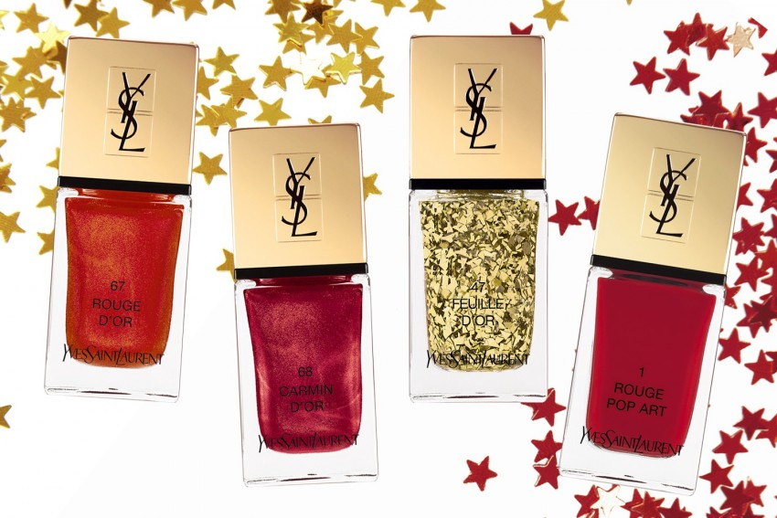 Rouge d'Or, Carmin d'Or, Feuille d'Or e Rouge Pop Art, Yves Saint Laurent (23 dólares)