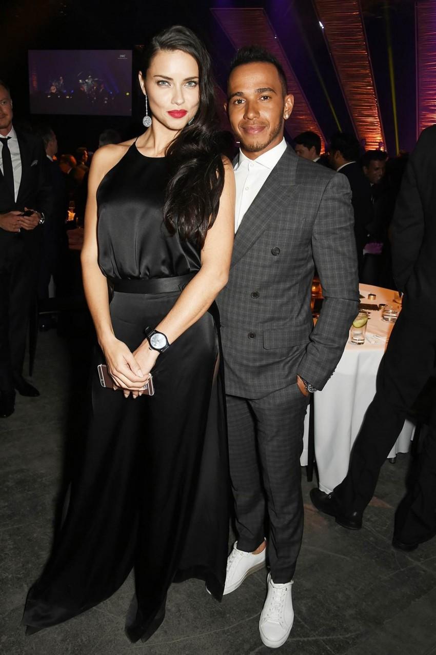 Adriana Lima e Lewis Hamilton