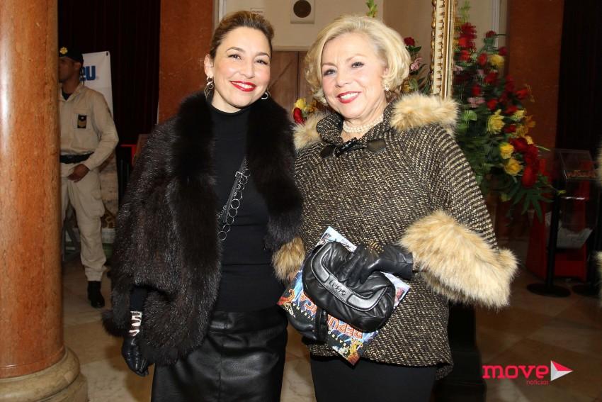 Helena Ribeiro com a filha Célia