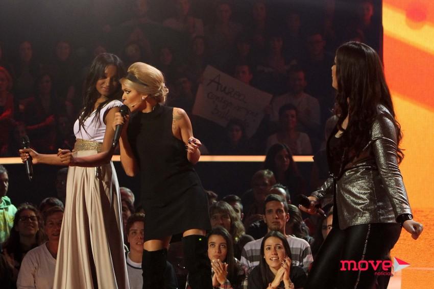 "Aurea juntou-se a Patrícia e Soraia para cantar ""Knock on wood"""
