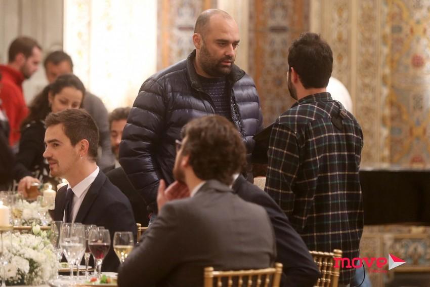 Os atores com o realizador Sérgio Graciano