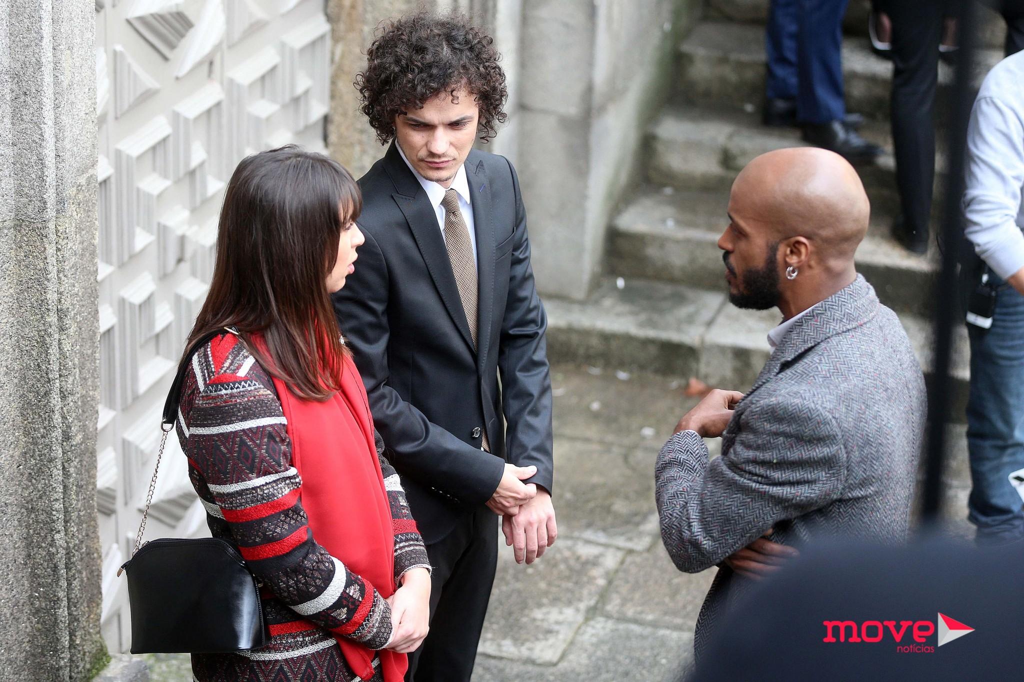 Cristóvão Campos durante as gravações da novela no Porto