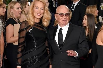 Jerry Hall e Rupert Murdoch