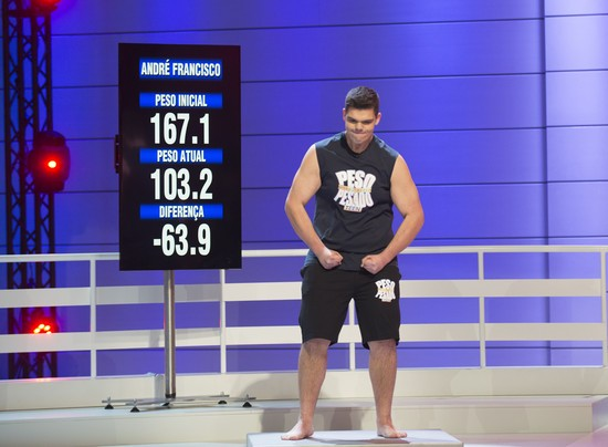 André Francisco perdeu 63,9 quilos e sagrou-se vencedor do prémio de casa
