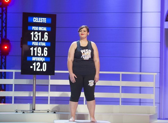 Celeste perdeu 12,0 quilos