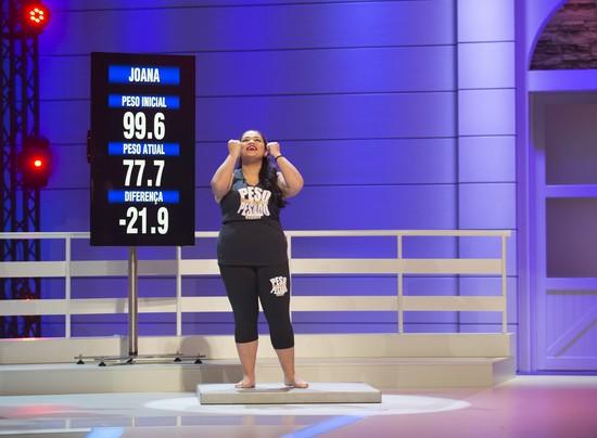 Joana perdeu 21,9 quilos