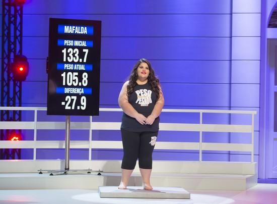 Mafalda perdeu 27,9 quilos