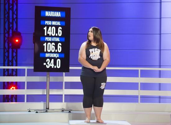 Mariana perdeu 34,0 quilos