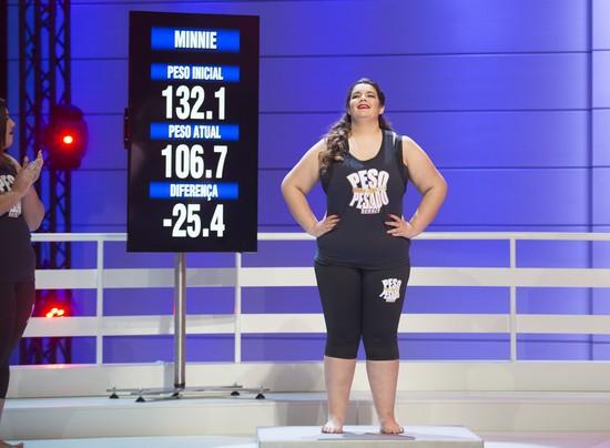 Minnie perdeu 25,4 quilos