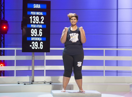 Sara perdeu 39,6 quilos