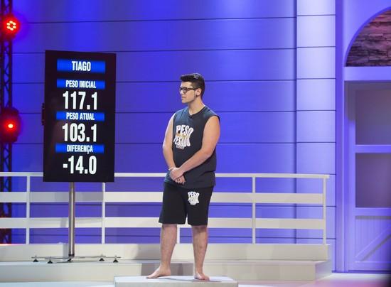 Tiago perdeu 14,0 quilos
