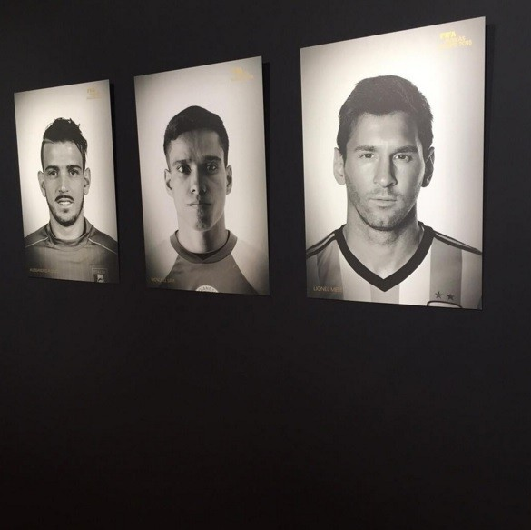 Os nomeados para o prémio de melhor golo:  Florenzi, Wendell Lira e Messi.