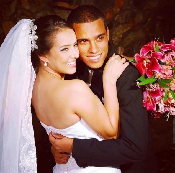 Wendell Lira  contou com o apoio da mulher, Ludymila Miranda. O casal está junto há 10 anos. O casamento já dura cinco.