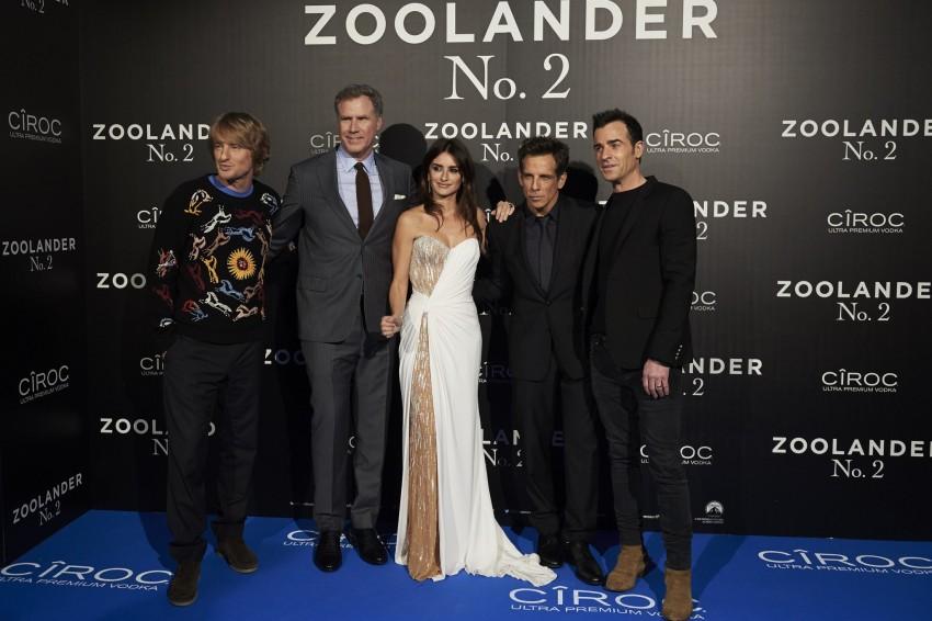 Owen Wilson, Will Ferrell, Penélope Cruz, Ben Stiller e Justin Theroux