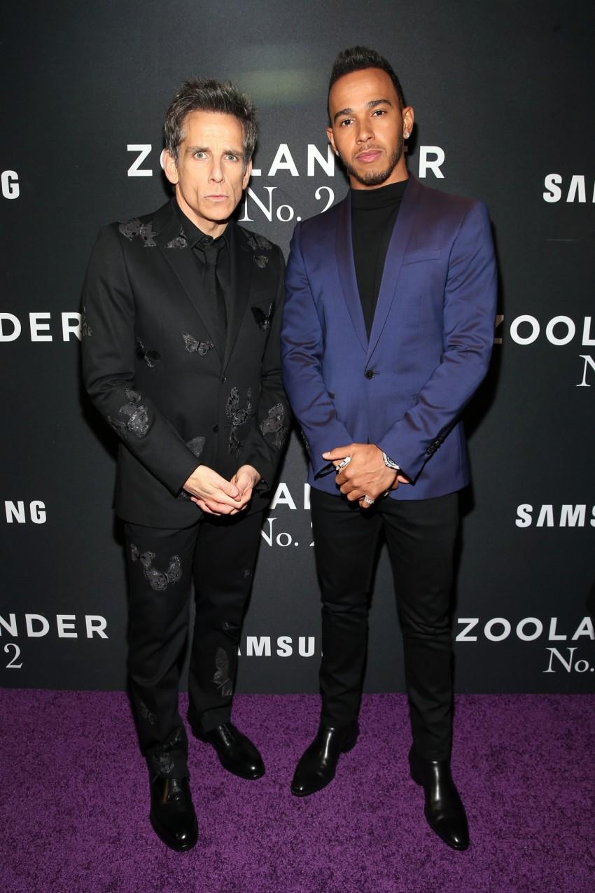 Ben Stiller e Lewis Hamilton