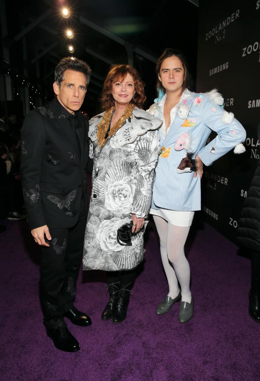 Ben Stiller, Susan Sarandon e Miles Robbins