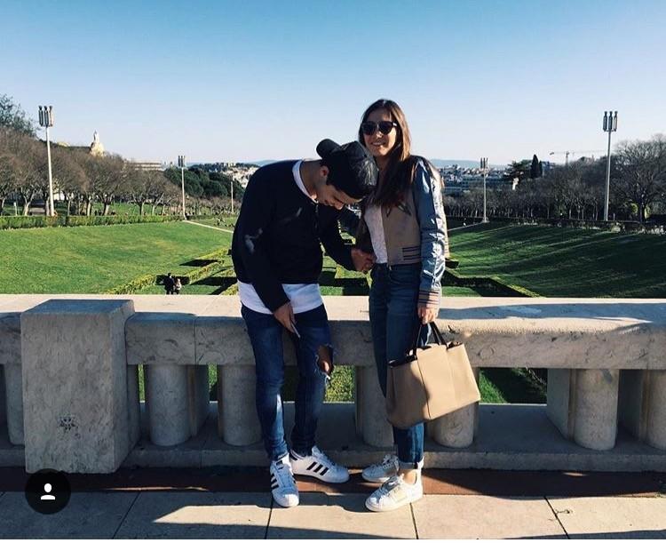 Matilde com o namorado em Lisboa
