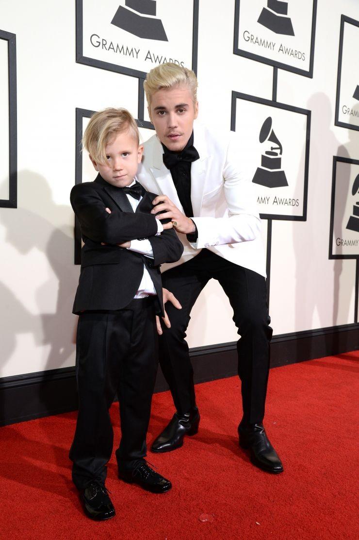 Justin Bieber com o irmão