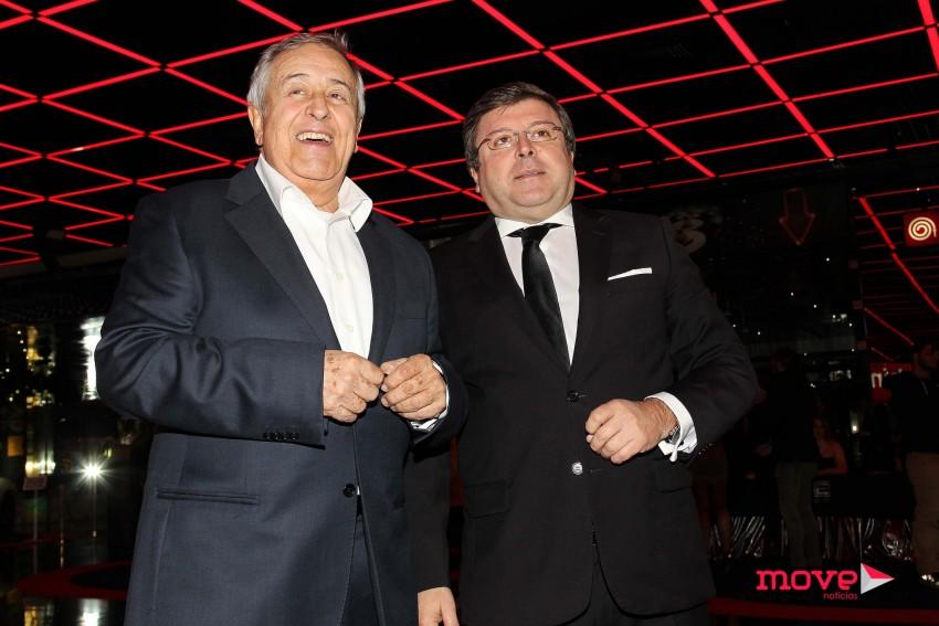 Nicolau Bryner com o diretor geral da TVI, Luís Cunha Velho
