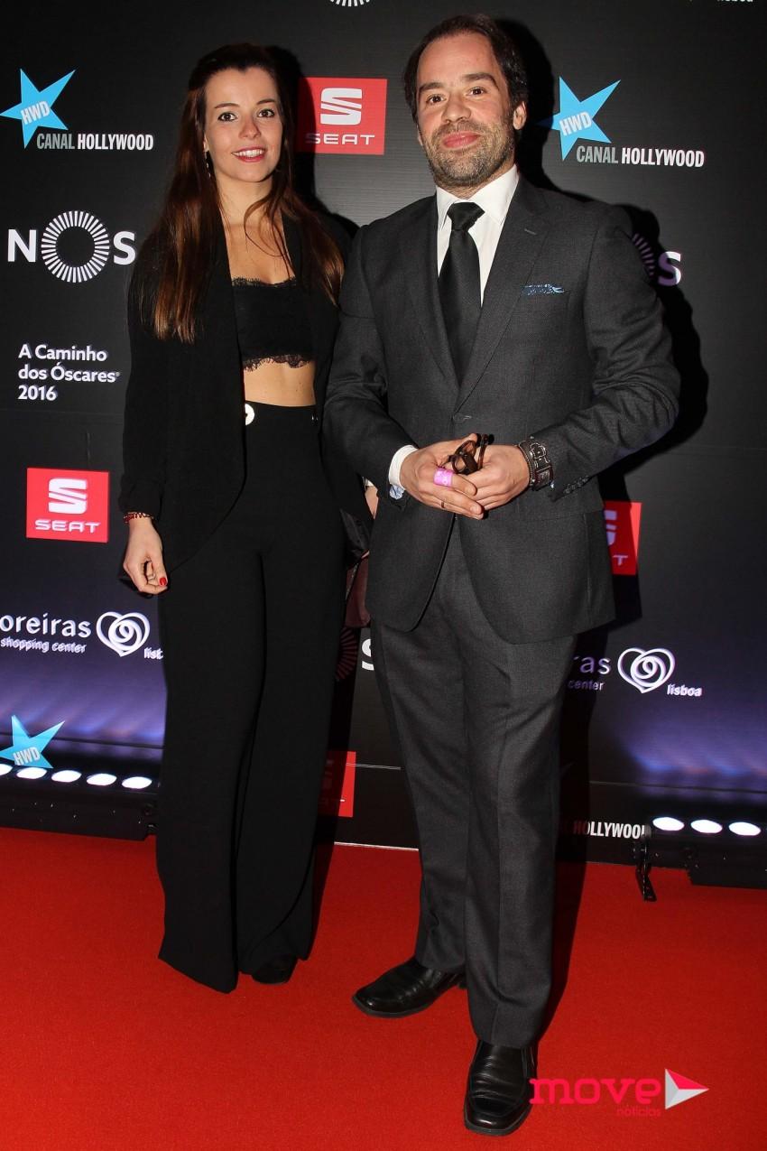 Luís Filipe Borges com uma amiga