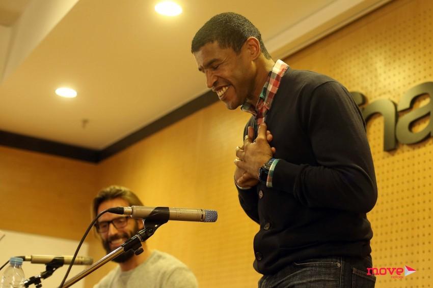 Ricardo Guedes e Jorge Pina durante a apresentação do livro - Foto: José Gageiro