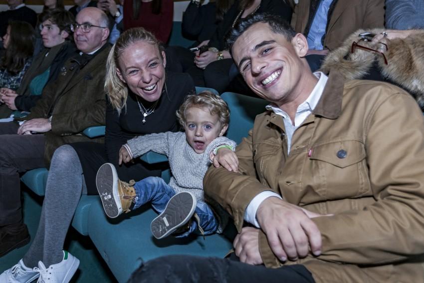 André Henriques com a mulher e o filho