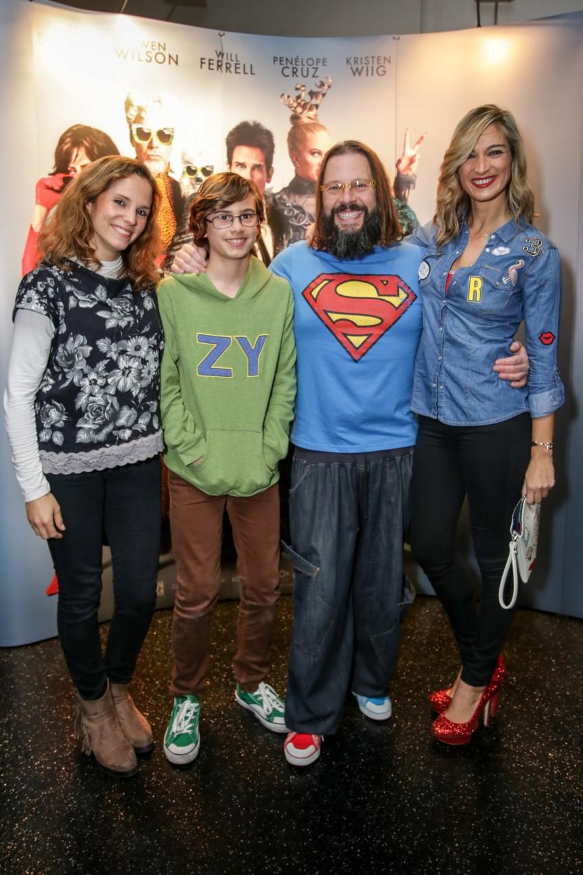 Mércia Leal com Vanessa Palma, Quimbé e o filho