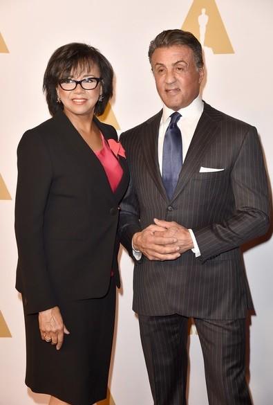 Sylvester Stallone e a presidente da Academia Cheryl Boone Isaacs