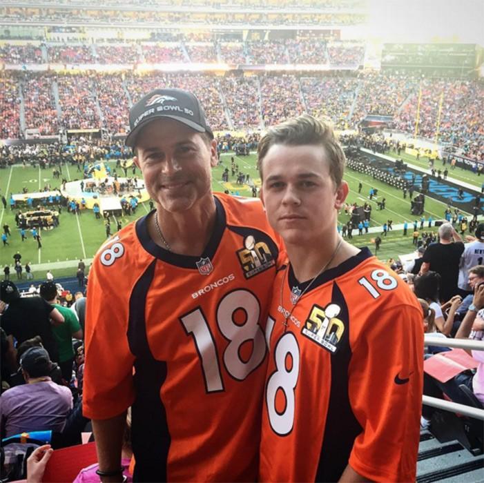 Rob Lowe com o filho
