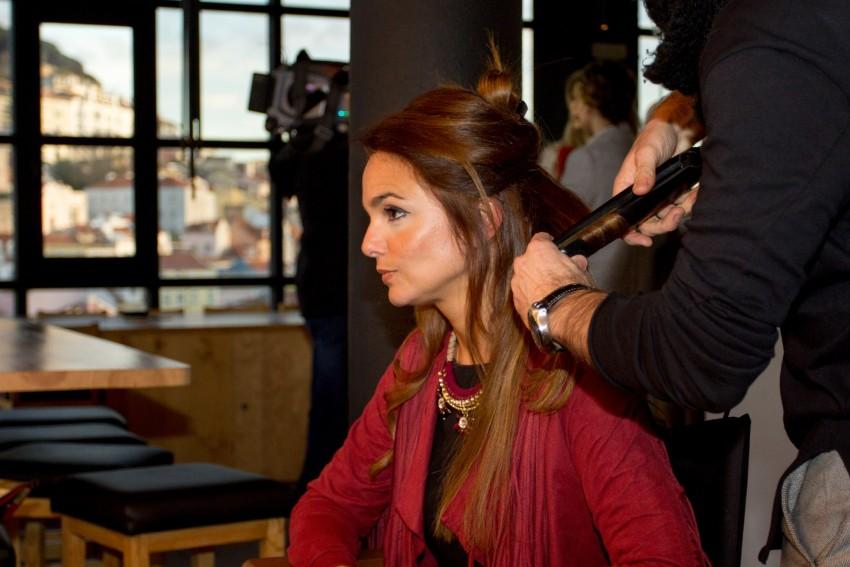 Catarina Morazzo quis experimentar um penteado para a nova estação