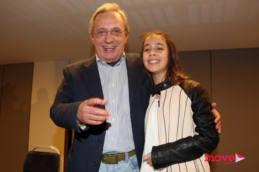 Carlos Cruz com a filha mais nova Mariana