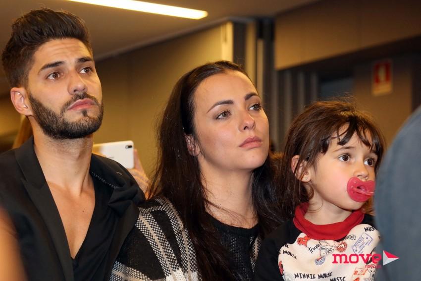 Marta Cruz esteve com as filhas e o namorado, Gonçalo Quinaz