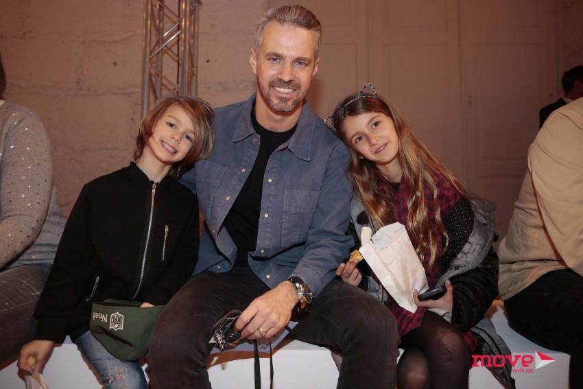 Tiago Monteiro com os filhos, Mel e Noah