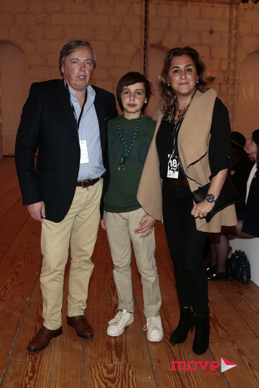 Ricardo Salgado com o filho, Tomás, e a mulher, Teresa