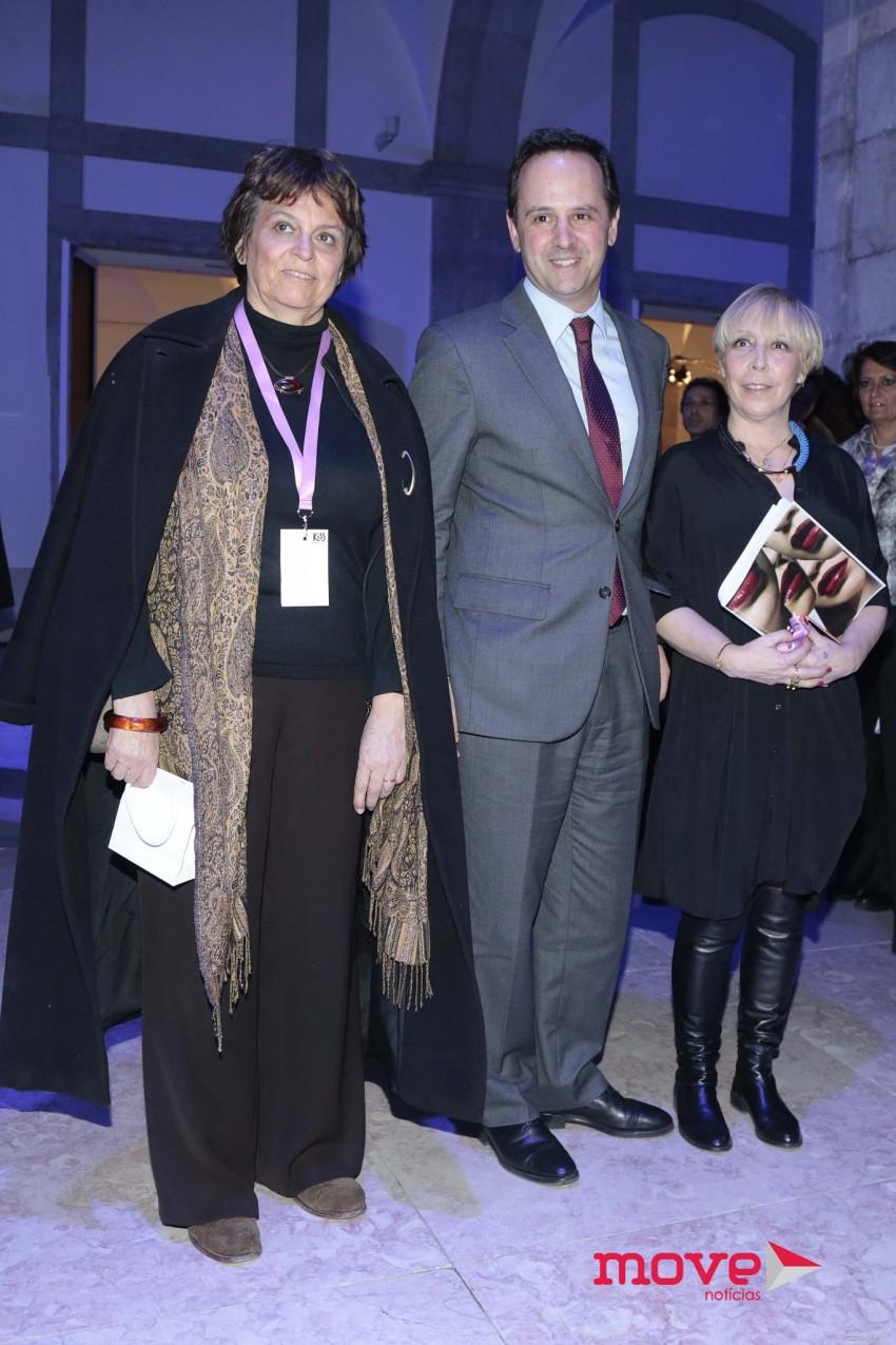 Catarina Vaz Pinto, o presidente da câmara de Lisboa, Fernando Medina, e Eduarda Abbondanza