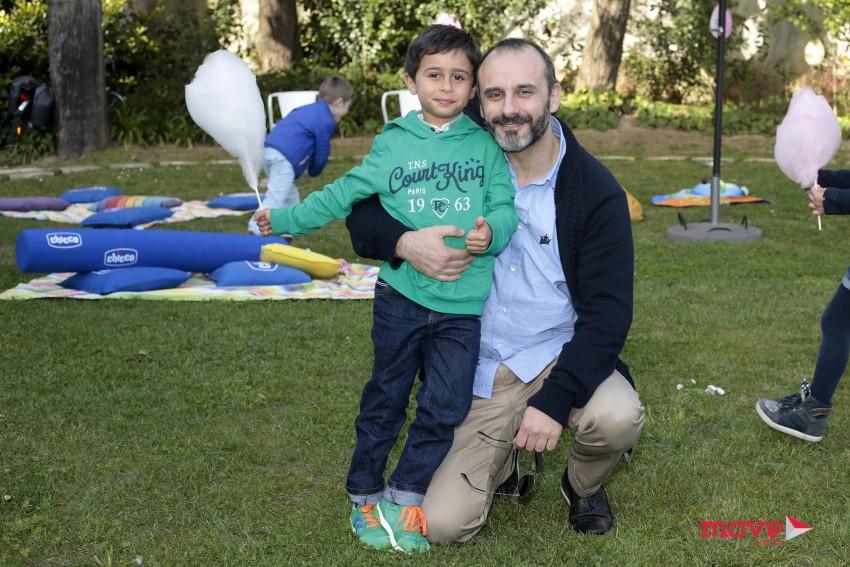 Rui Unas com o filho, André