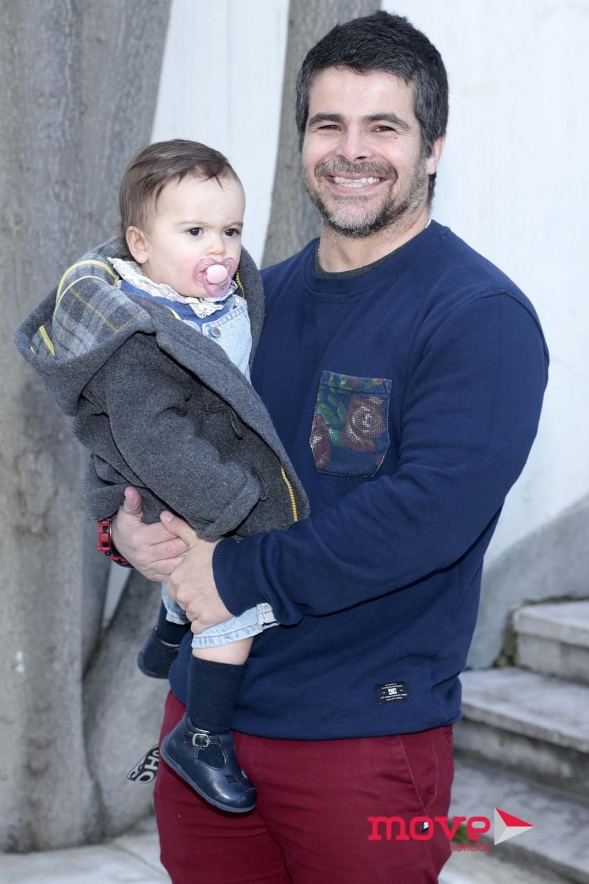 Miguel Costa com a filha, Teresa