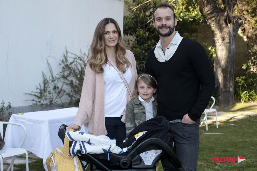 Ana Rita Rocha e Celso Martins com os filhos, Gabriel e  Estrela