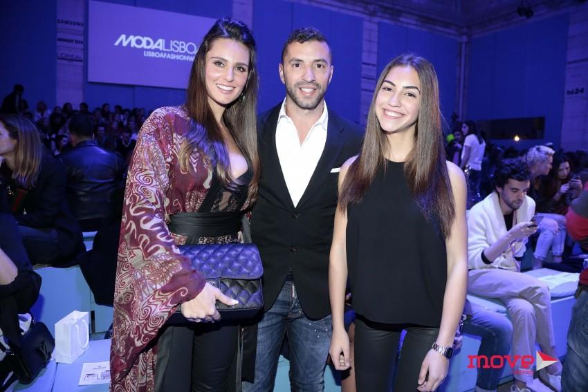 Vanessa Rebelo com Simão Sabrosa e a filha deste, Mariana