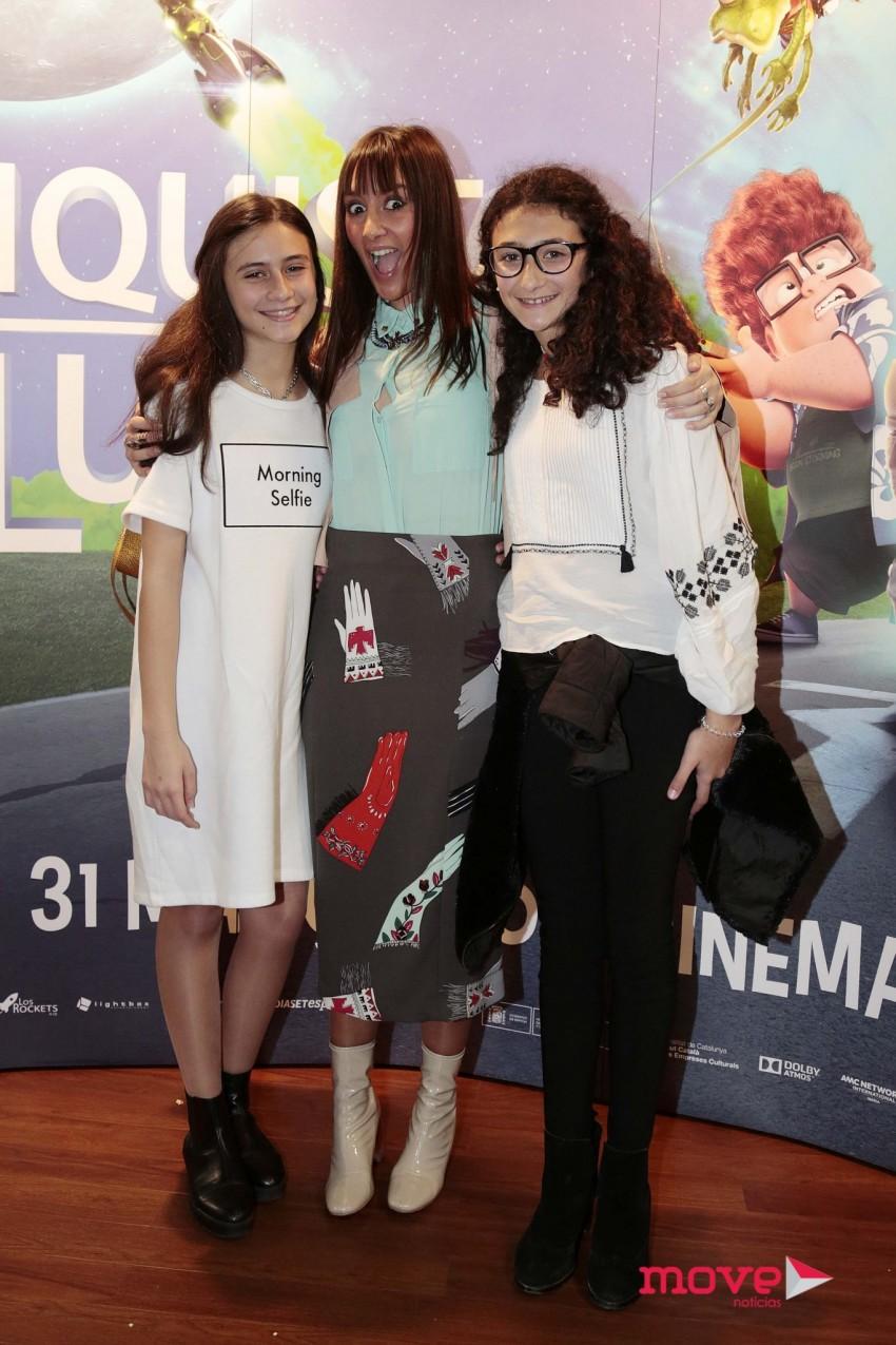 Matilde Miguel com a irmã e uma amiga