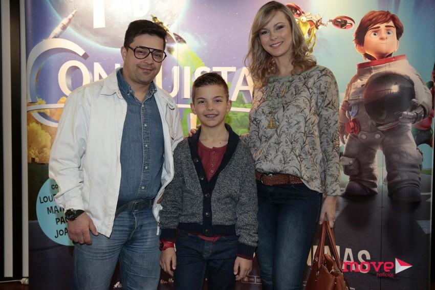 Ricky e Daniela com Guilherme