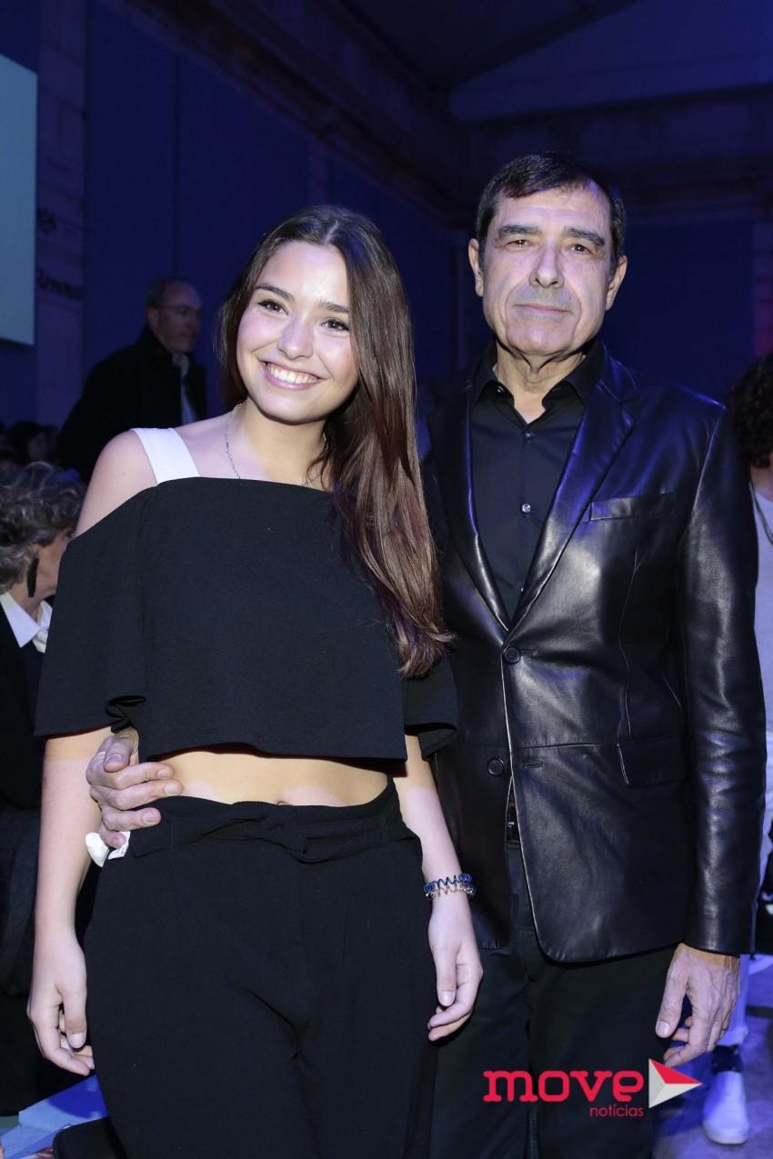 José Eduardo Moniz e a filha, Madalena