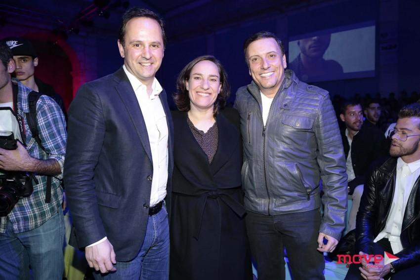 Fernando Medina, Maria Rueff e Joaquim Monchique