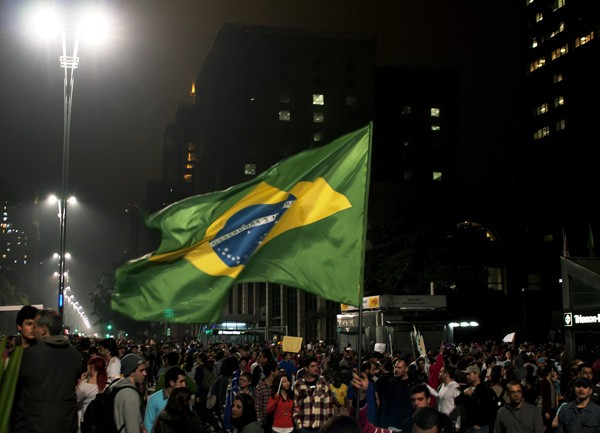 Protests in Brazil Against Transport Fares Increase and Cost of Staging World Cup