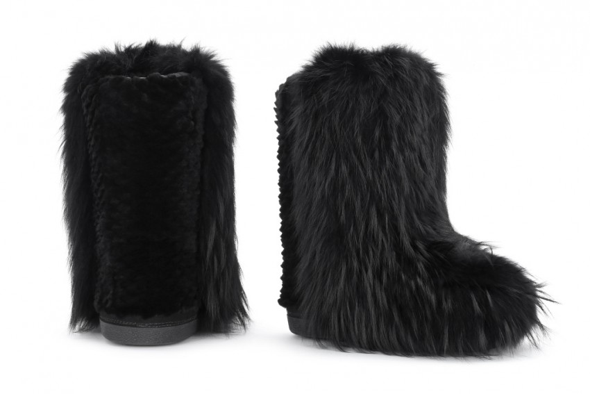 Fendi Black Mink Moonboot.