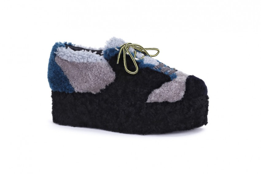 Fendi Shearling Platform Shoes.
