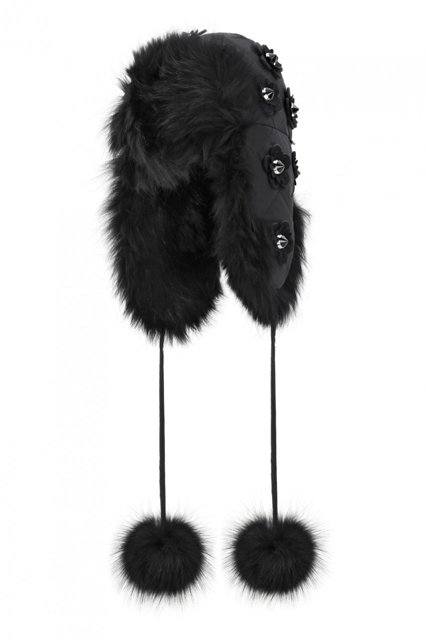 Fendi Black Edition Fur Hat.