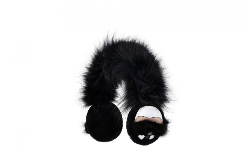 Fendi Karlito Fur Ear Cuffs.