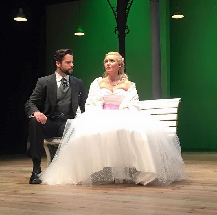 """Com Sofia Alves em """"A Dama das Camélias"""", em teatro"""